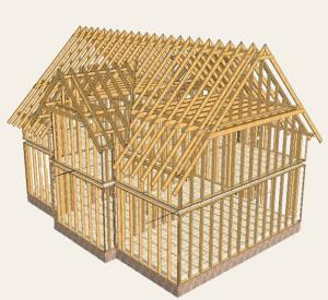 Каркасный дом строить легко и просто