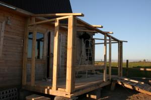 Строим веранду деревянную часть 1