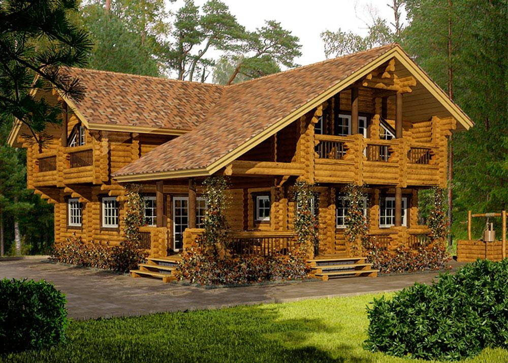 Деревянные дома шале фото