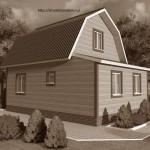 Каркасно-щитовой дом 6×8 проект ST1