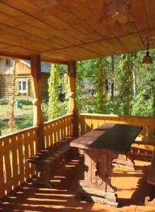 Строим веранду деревянную часть 3